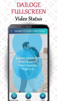 Dialogue Full Screen Video Status - Lyrical Status screenshot 2