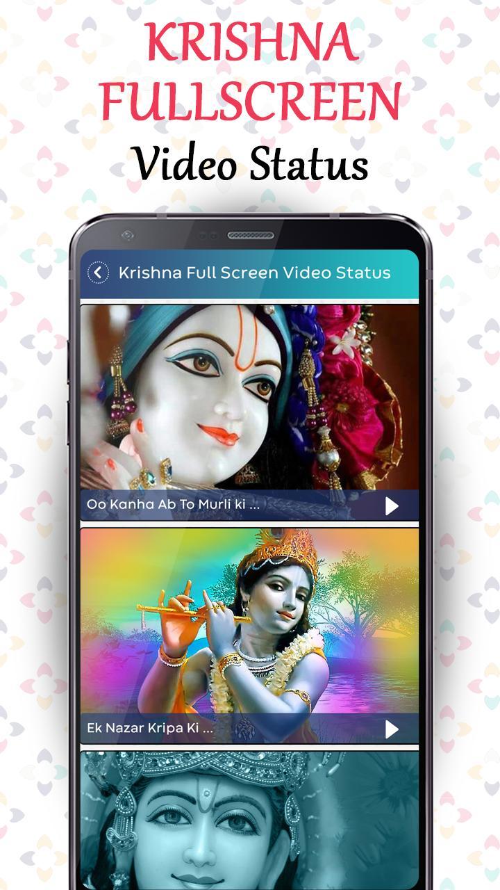 Krishna Full screen video status - Lyrical Status for