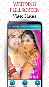 Wedding Full screen video status - Lyrical Status screenshot 1