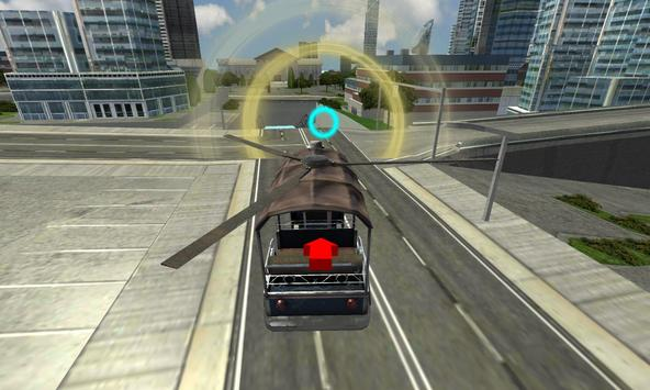 Flying Tuk Tuk Helicopter Rush screenshot 7