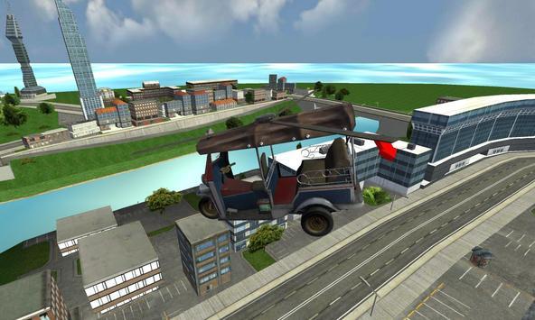 Flying Tuk Tuk Helicopter Rush screenshot 8
