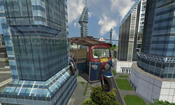 Flying Tuk Tuk Helicopter Rush screenshot 3