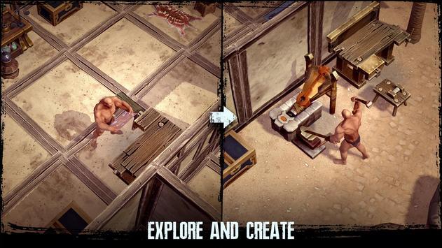 Exile Survival – Craft, build, fight with monsters captura de pantalla 4