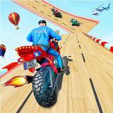 Police Moto Bike Racing Game Mega Ramp Stunts Game