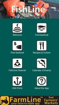 FishLine® Fresh Local Seafood 포스터