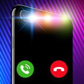 Anrufbildschirm-Themen: Farbanruf-Blitz,Klingelton Zeichen