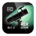 Telescope Bx 7.2 45x Zoom Photo and Video Camera