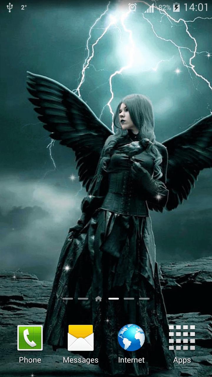Android 用の 天使と悪魔ライブ壁紙 Apk をダウンロード