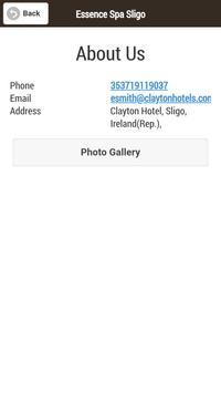 Essence Spa Sligo screenshot 2