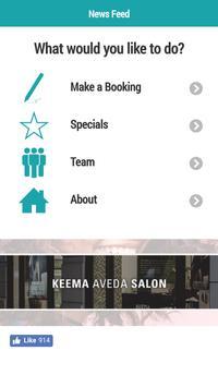 Keema Aveda Salon poster