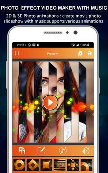 Photo Effect Animated Video Maker : Photo To Video screenshot 1