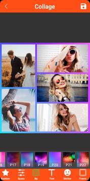 Colagem de fotos, molduras, editor de fotos imagem de tela 18
