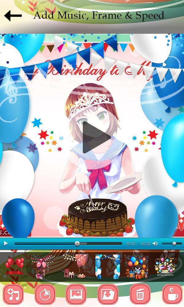 Happy Birthday Video Maker для андроид скачать Apk