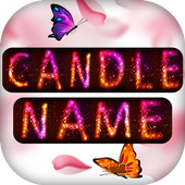 Name Art : Write your name with a candles Shape icon