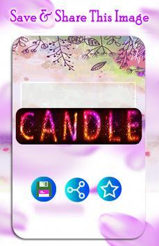 Name Art : Write your name with a candles Shape screenshot 4