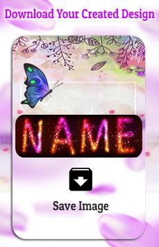 Name Art : Write your name with a candles Shape screenshot 1