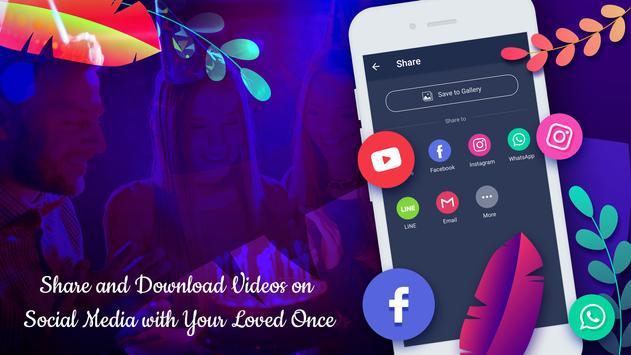 Birthday lyrical video maker with music screenshot 4
