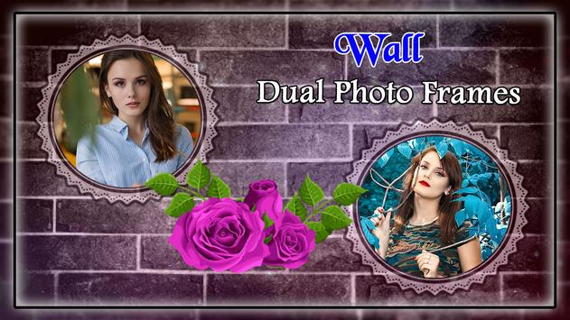 Wall Dual Photo Frame poster