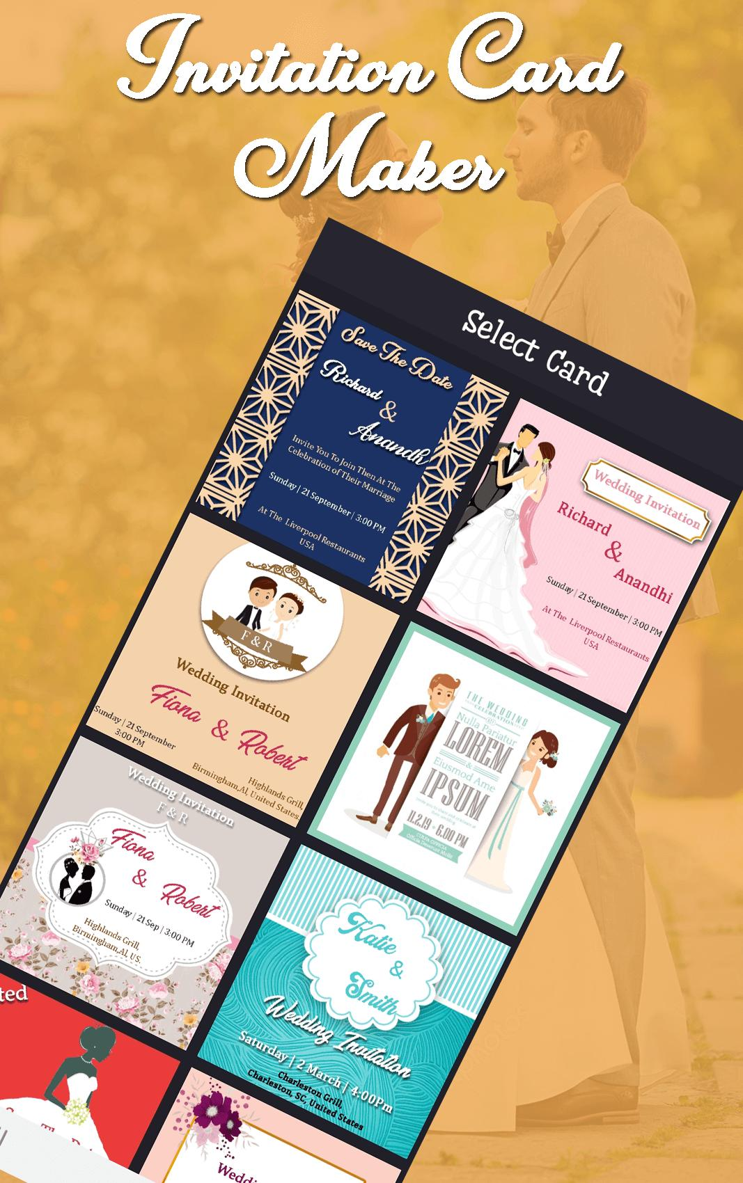 invitation card maker  greeting cards making app for