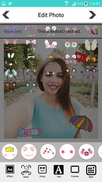 Candy selfie camera - snappy photo screenshot 4