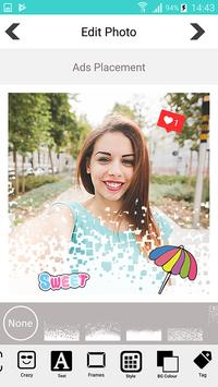 Candy selfie camera - snappy photo screenshot 6