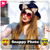 Snappy photo filters stickers icon