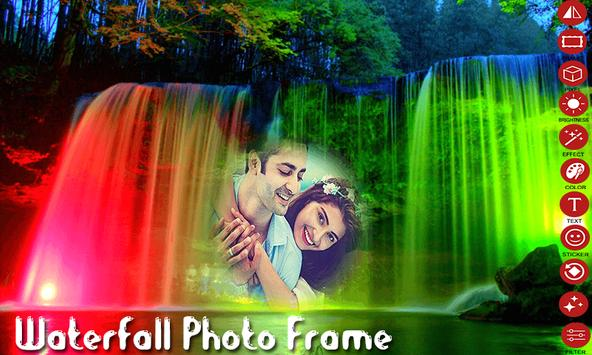 Waterfall Photo Frame poster
