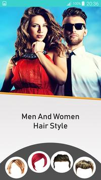 Woman and Men Hairstyle Photo Editor poster