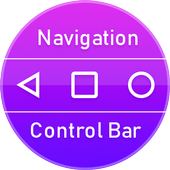 Color Navigation Bar:Soft Keys icon