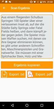 Text aus Bild scannen Textscanner - Photext OCR screenshot 2