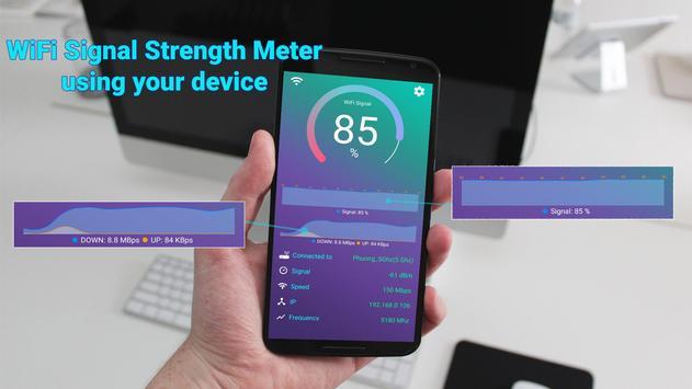 WiFi Signal Strength Meter plakat