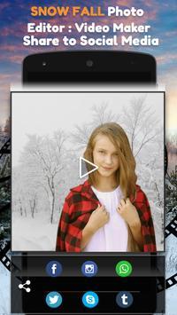 Snow Fall Photo Editor : Video Maker screenshot 4