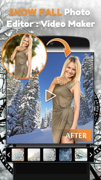 Snow Fall Photo Editor : Video Maker poster