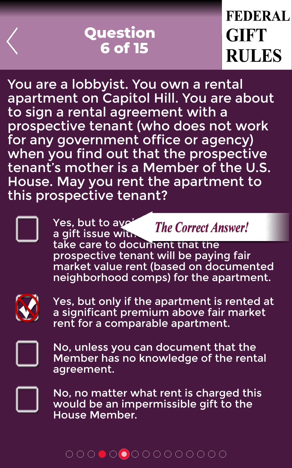 Wiley's Federal Gift Rules Assistant poster