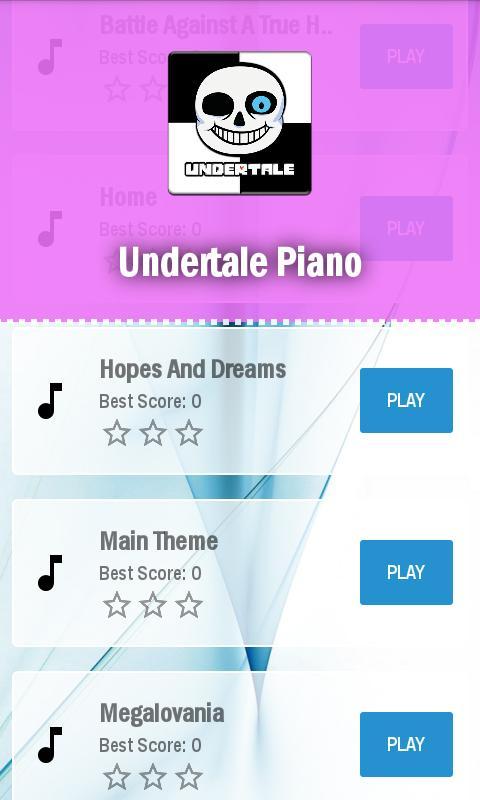 Home Undertale Piano