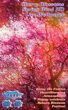 Purple Cherry Blossoms Spring Wind poster