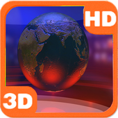 Virtual News Futuristic Studio Globe иконка