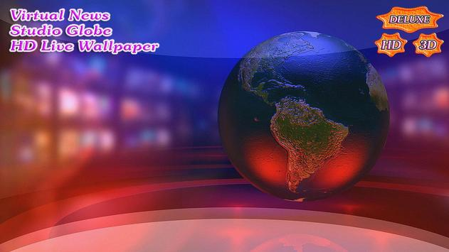 Virtual News Futuristic Studio Globe скриншот 3