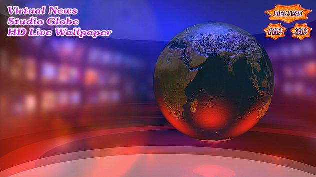 Virtual News Futuristic Studio Globe скриншот 1