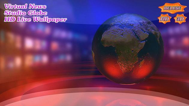 Virtual News Futuristic Studio Globe скриншот 2