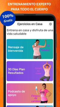 Exercises at home poster