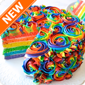 Rainbow Cakes Food Wallpapers icon