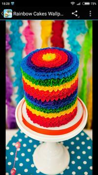 Rainbow Cakes Food Wallpapers screenshot 2