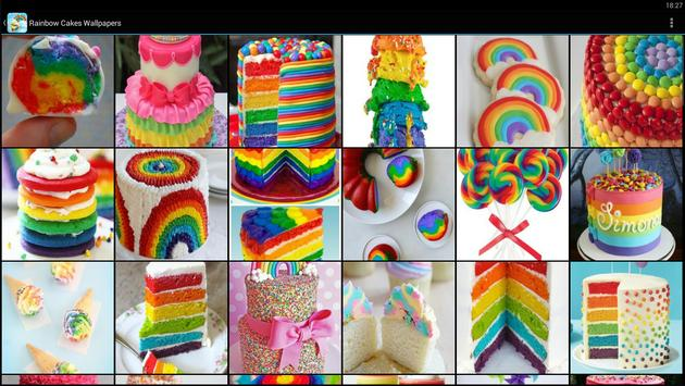 Rainbow Cakes Food Wallpapers screenshot 4