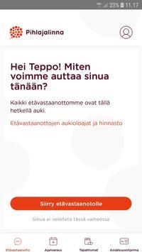 Pihlajalinna terveyssovellus poster