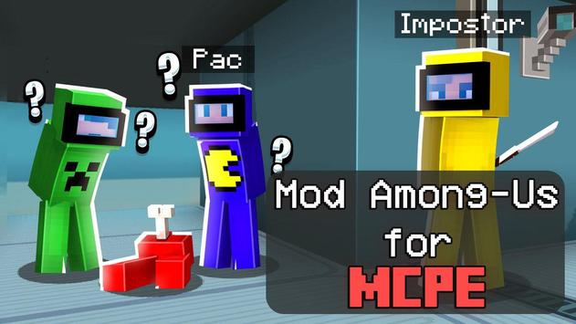 Mod of Among Us for Minecraft PE poster