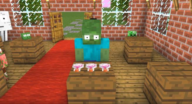 Monster School para Minecraft PE captura de pantalla 3