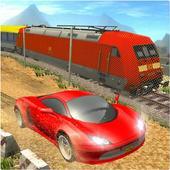 Car vs Train: High Speed Racing Game 图标