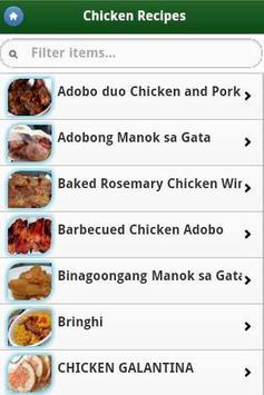 Pinoy Food Recipes screenshot 1
