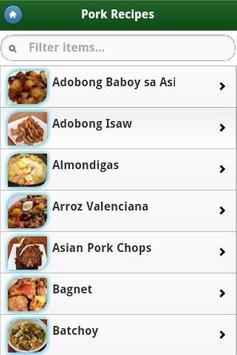 Pinoy Food Recipes screenshot 2